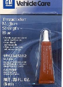 Medium Strength Threadlocker, Blue 0,006 литра