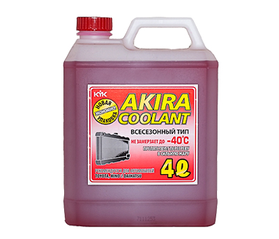 AKIRA COOLANT ALL SEASON -40ºC 4 литра